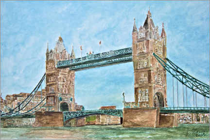 Póster Premium  Londres, Tower Bridge - Gerhard Kraus