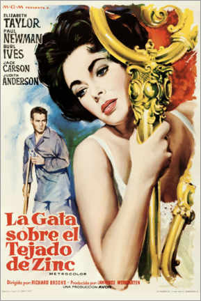 Póster Premium Cat On A Hot Tin Roof (Spanish)