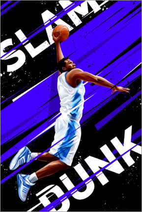 Póster Premium  Slam dunk - Dmitry Belov