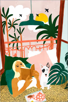 Póster Premium Home is where the dog is