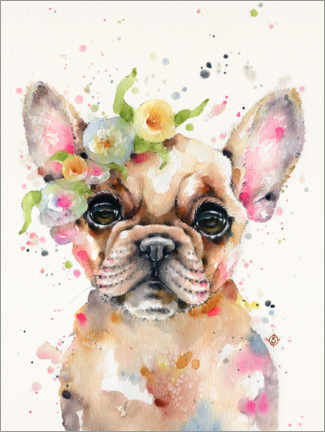 Quadro em PVC  Little Frenchie - Sillier Than Sally
