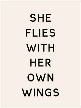 Póster Premium She flies with her own wings