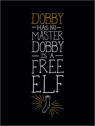 Autocolante decorativo  Dobby has no master