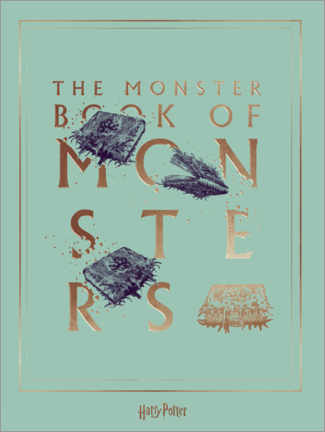 Póster Premium  Harry Potter - The Book of Monsters
