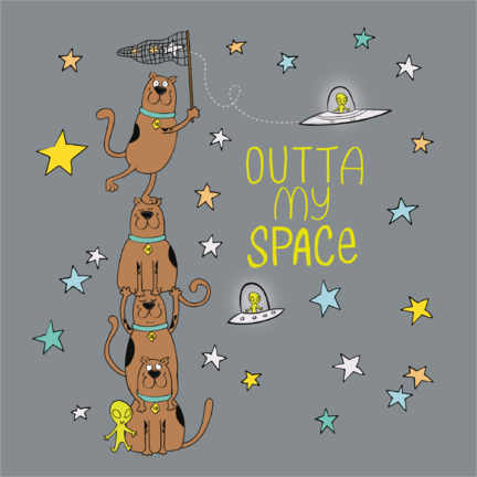 Póster Premium  Scooby - Outta my space