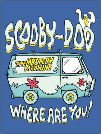 Póster Premium  Scooby Doo - Where are you!