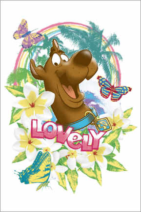 Póster Premium  Holiday Scooby