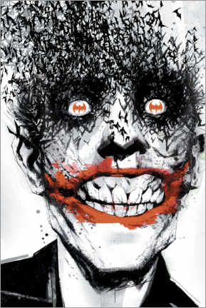 Póster Premium  The Joker Crazy Face