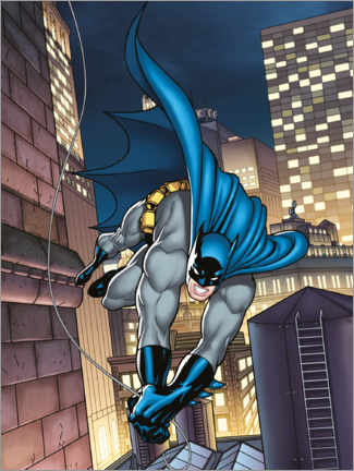 Póster Premium  Batman comic hero
