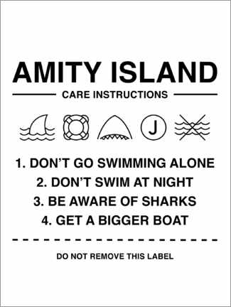Póster Premium  Amity Island - Care instructions