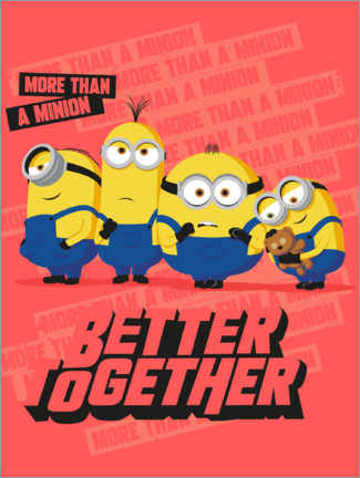 Póster Premium  Minions Better Together