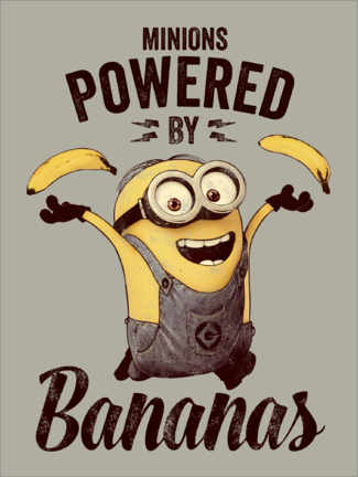 Póster Premium  Minions, powered by bananas