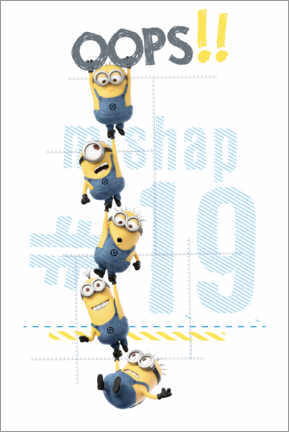Póster Premium  Minions, oops