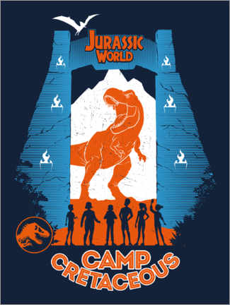 Autocolante decorativo  Jurassic World: Camp Cretaceous (inglês)