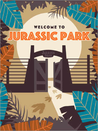 Póster Premium  Welcome to Jurassic Park (inglês)
