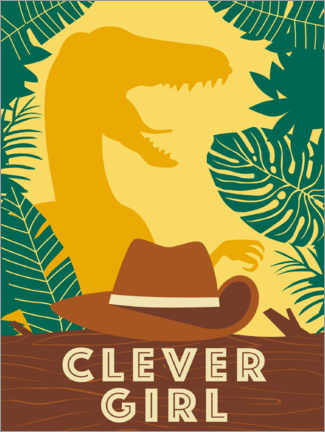 Póster Premium  Clever Girl