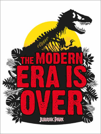 Quadro em PVC  Jurassic Park - The modern era is over