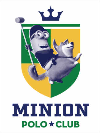 Póster Premium Minion Polo Club