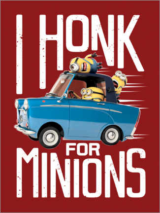 Póster Premium  I honk for minions