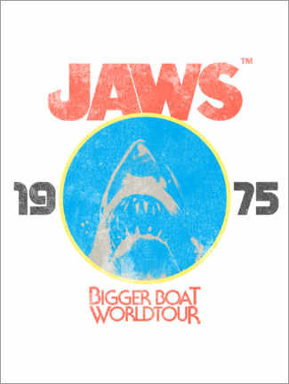 Póster Premium  Tubarão - Bigger Boat World Tour
