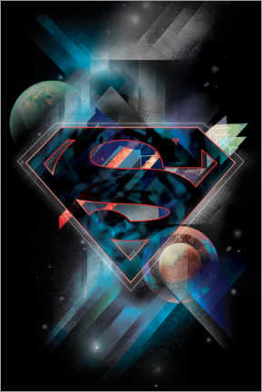 Autocolante decorativo  Superman, logotipo (space edition)