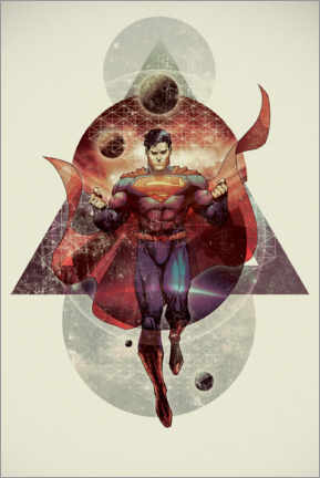 Autocolante decorativo  The powerful Superman