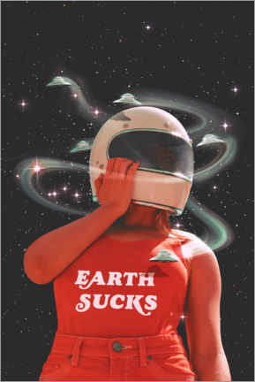 Póster Premium  Earth sucks - Jonas Loose