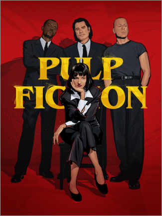 Póster Premium Pulp Fiction Gang