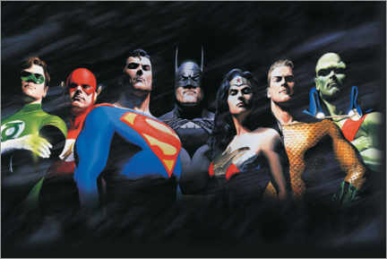Póster Premium  Justice League - The Original Seven