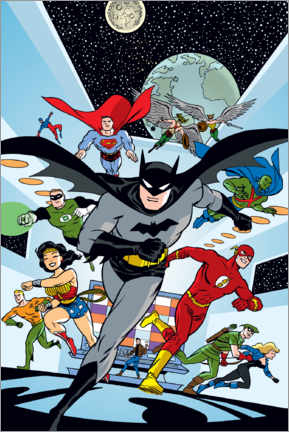 Póster Premium  Justice League Hero Run