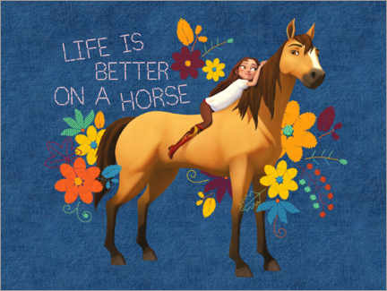 Autocolante decorativo  Life is better on a horse