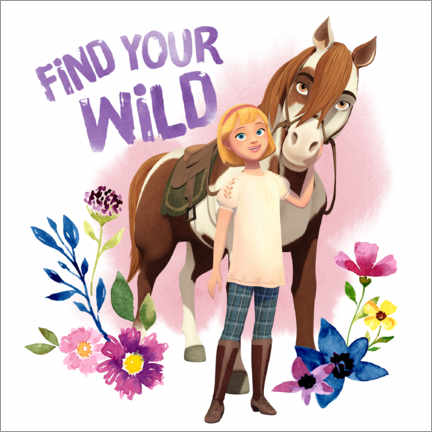 Póster Premium  Find your wild