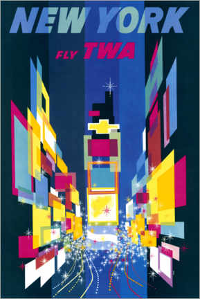 Póster Premium  New York, Fly TWA - William P. Gottlieb/LOC