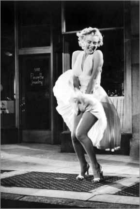 Quadro em plexi-alumínio  Marilyn - The Seven Year Itch iconic pose - Celebrity Collection