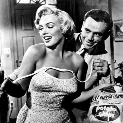 Quadro em tela  The Seven Year Itch - Potato Chips - Celebrity Collection