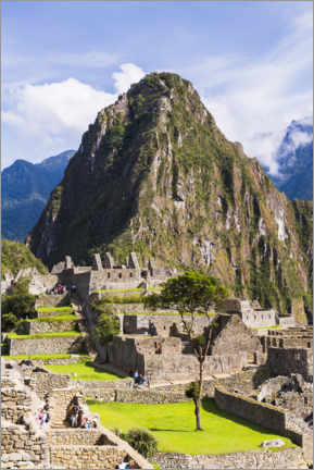 Póster Premium  Machu Picchu e Huayna Picchu no Peru - Matthew Williams-Ellis