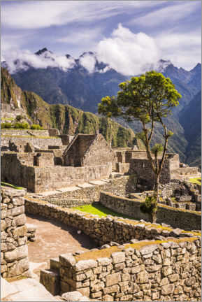 Póster Premium  Machu Picchu na Cordilheira dos Andes do Peru - Matthew Williams-Ellis