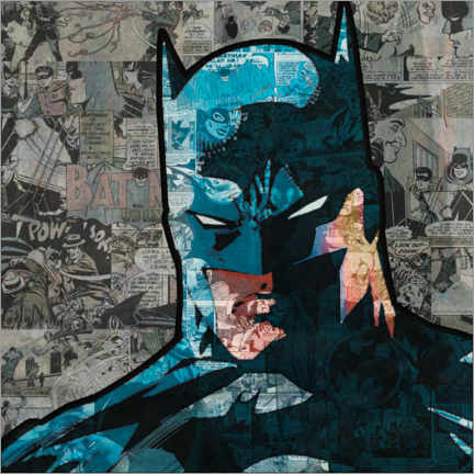 Póster Premium  Batman Pop Art Comic
