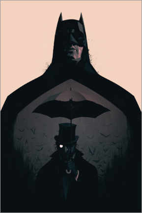 Póster Premium  Batman vs Penguin