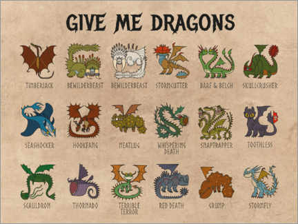 Póster Premium  Give me dragons