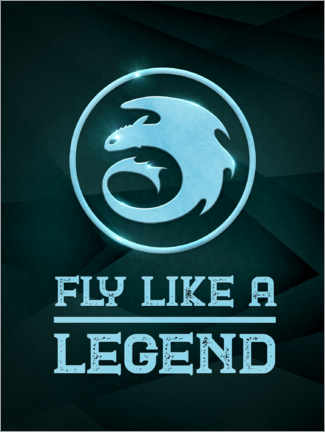 Póster Premium  Fly like a legend