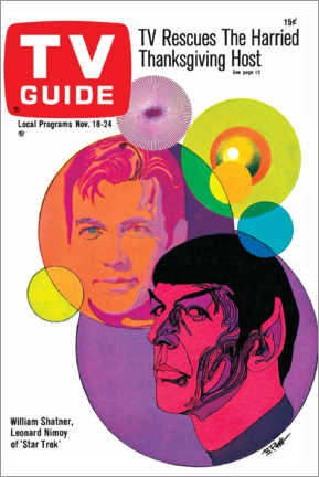 Póster Premium  Star Trek - Retro Cover 1967 - TV Guide
