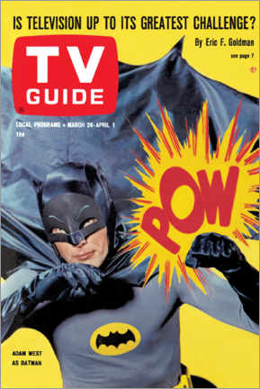 Póster Premium  Batman - TV Guide Cover 1966 - TV Guide