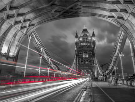 Póster Premium  Tower Bridge Strip Lights, London - Assaf Frank