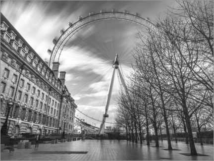 Póster Premium  London Eye - Assaf Frank