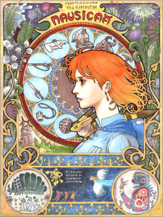 Póster Premium  Nausicaä of the Valley of the Wind