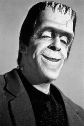 Póster Premium The Munsters, Fred Gwynne