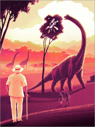 Póster Premium  Welcome to Jurassic Park