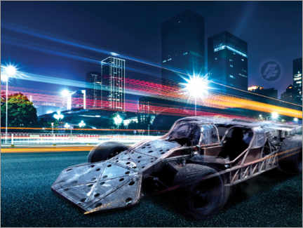 Póster Premium  The Fast and the Furious - City Lights