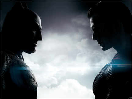 Póster Premium  Afflec v Cavill - Batman v Superman: Dawn of Justice